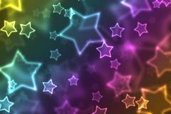 color regnbågestjärnor Arkivfoto