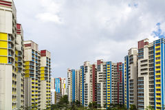 Color residential estate Royalty Free Stock Photo