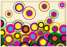 Color retro circles background Royalty Free Stock Photography