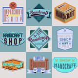 Color retro design insignias logotypes set Royalty Free Stock Photography