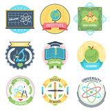 Color retro high school, university and academy Royalty Free Stock Image
