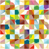 Color retro mosaic squares background Royalty Free Stock Photos