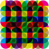 Color retro rainbow mosaic background Royalty Free Stock Photography