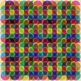 Color retro rainbow mosaic background Royalty Free Stock Images