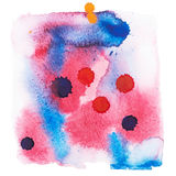 Color retro vintage abstract watercolour aquarelle art hand drawn paint Royalty Free Stock Photography
