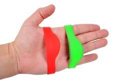 Color RFID Bracelet Stock Image