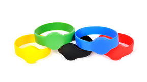 Color rfid bracelets Royalty Free Stock Photo