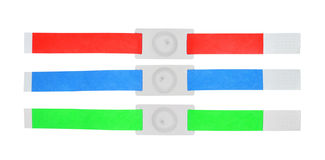 Color rfid id bracelets Royalty Free Stock Images