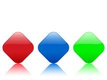 Color rhomb icon Stock Photos