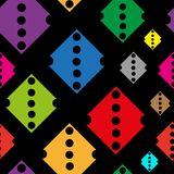 Color rhombuses with holes Royalty Free Stock Photo