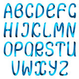 Color ribbon alphabet set Stock Photos