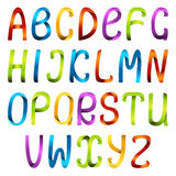 Color ribbon alphabet set Stock Photos
