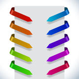 Color ribbon pointers Stock Image