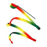 Color ribbon for rhythmic gymnastics Stock Photos