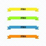 Color Ribbon Set Royalty Free Stock Photo