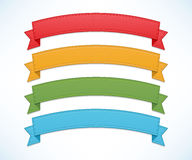 Color ribbon set Stock Photography