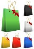 Color ribbon shopper Stock Image