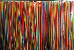 Color ribbon wall in Kiasma museum Royalty Free Stock Photography