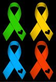 Color ribbons Stock Image