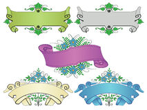 Color ribbons Royalty Free Stock Images