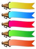 Color ribbons Royalty Free Stock Photography