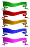 Color ribbons Stock Images