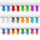 Color Ribbons and Arrows Set, Vector Royalty Free Stock Image