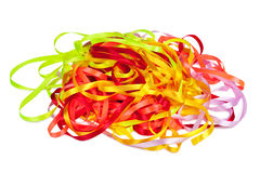 Color ribbons background isolated Royalty Free Stock Photo