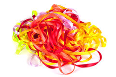 Color ribbons background isolated Stock Photos