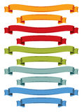Color ribbons set Stock Image