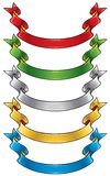 Color ribbons set Royalty Free Stock Images