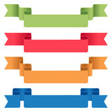 Color ribbons Stock Photos