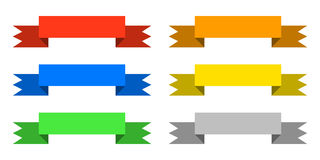 Color ribbons set icon stock illustration