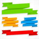 Color ribbons set Stock Photography