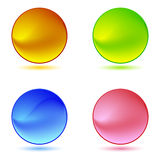 Color ring buttons Stock Photography