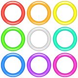 Color rings, set Stock Photos