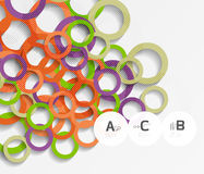 Color rings with shadows on gray abstract background Stock Photography