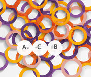 Color rings with shadows on gray abstract background Royalty Free Stock Photo
