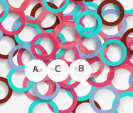 Color rings with shadows on gray abstract background Royalty Free Stock Images