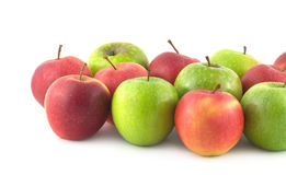 Color ripe apples isolated closeup Royalty Free Stock Photos
