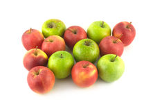 Color ripe apples isolated closeup Stock Images