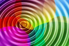 Color ripples Stock Photo