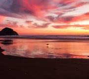Color rojo de la puesta del sol Imagen de archivo
