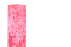 Color rojo de la vela decorativa Imagen de archivo