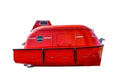 Color rojo del bote salvavidas de la seguridad Fotos de archivo libres de regalías