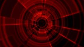 color rojo del 2.o de Tron vórtice porta redondo del túnel libre illustration