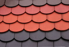 Color roof tiles Stock Images