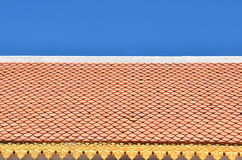 Color roof tiles pattern Royalty Free Stock Photos