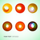 Color round abstract forms eps10 Royalty Free Stock Photography