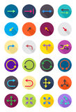 Color round arrows icons set Royalty Free Stock Images